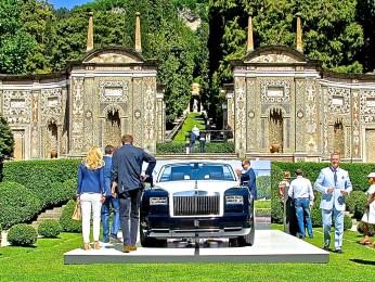 new Rolls Royce at Cernobbio Lake Como Italy Concorso d'Eleganza Villa d'Este