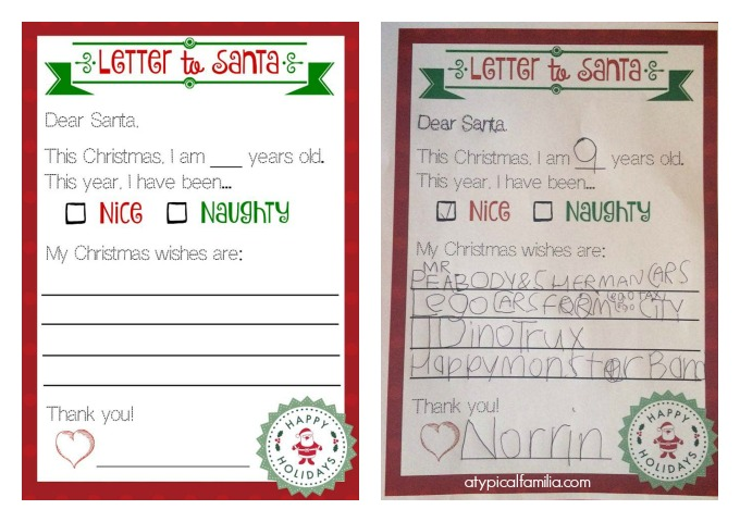 image relating to Santa Letters Printable called A Letter in the direction of Santa