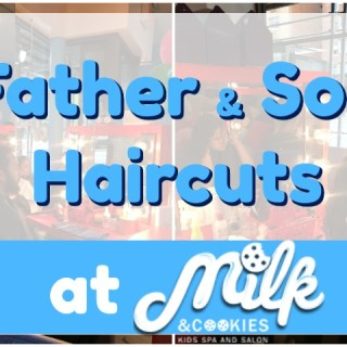 Father & Son Afternoon at Milk & Cookies Kids Spa & Salon