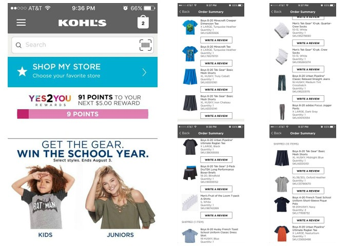 Kohls app for easy shopping
