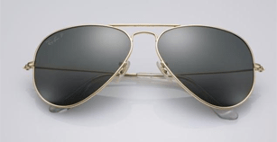 Golden Ray-Ban sunglasses are now also a thing
