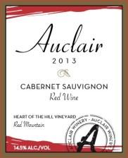 2013 Cab Sauv Label