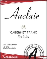 Auclair Winery Cabernet Franc