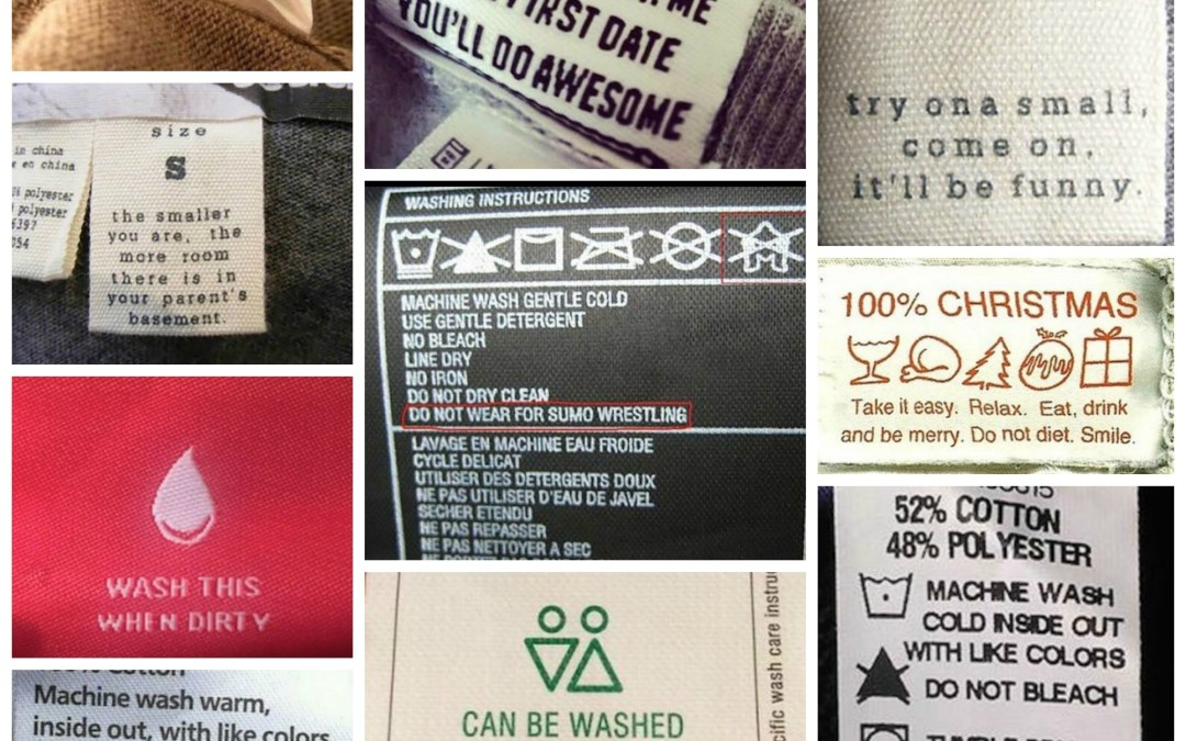 Funny Clothing Tags and Washing Labels