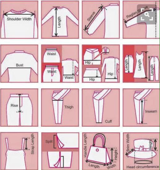 eBay Clothing Measurements Guide