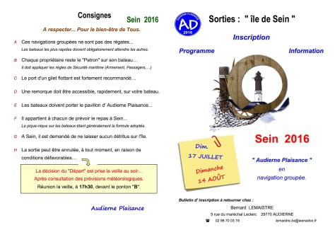 01 - SEIN 2016 - Programme & inscription