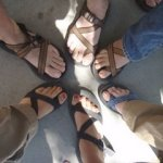 Chacos - always appropriate in Moab