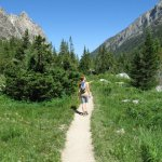 Hiking out of Cascade Canyon