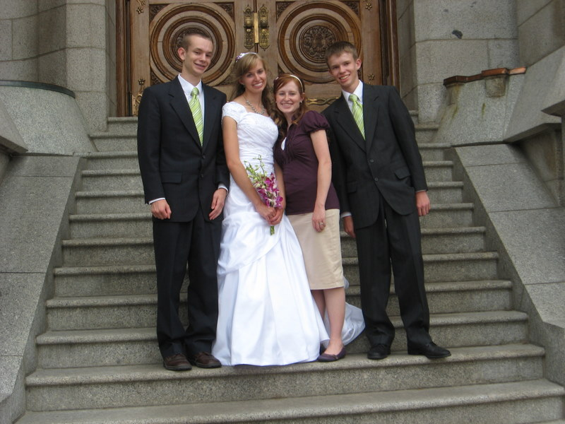 Spencer, Hope, Audrey, and Mitchell at SLC temple.