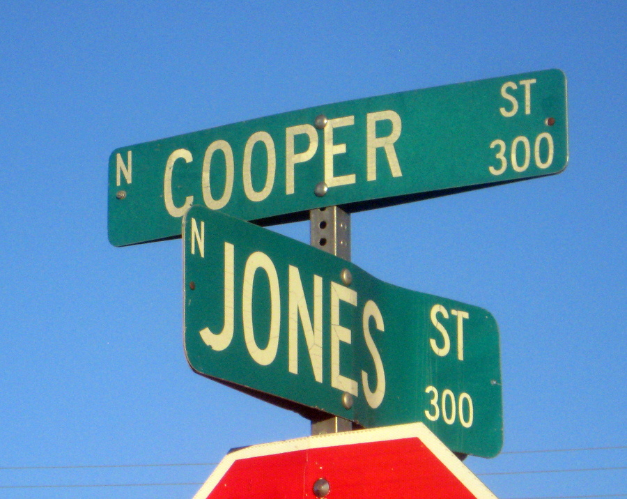 Noel's grandfather is actually buried just off of Cooper Street.