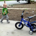 We knew Cooper would LOVE a bike and watched Craigslist for months before the right one popped up.