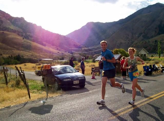 2008 - Halfway through the Top of Utah Marathon