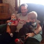 Grandpa and his grandsons.
