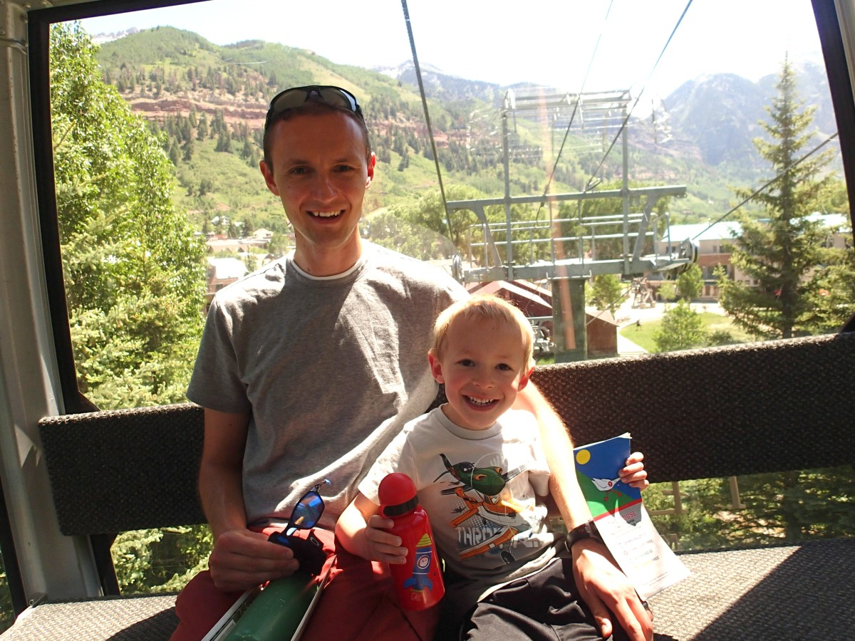 The kids loved riding the gondolas in Telluride.