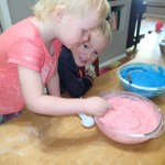 I've been promising the kids we'd make play dough forever and we finally did.