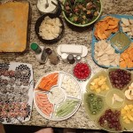 The whole spread for the evening.