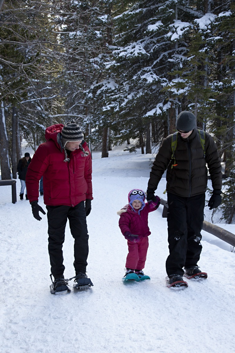 The real reason we went to Rocky Mountain was to snowshoe though.