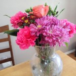 My flowers from Valentine's Day. This is actually one week later. Go Whole Foods flowers!