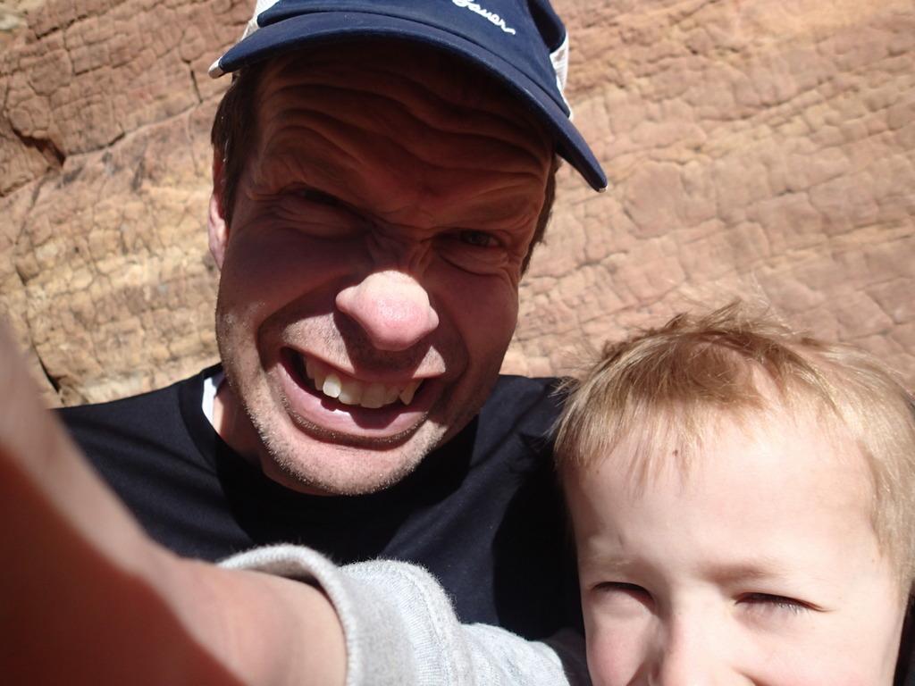 Selfie with Grandpa Wayne.