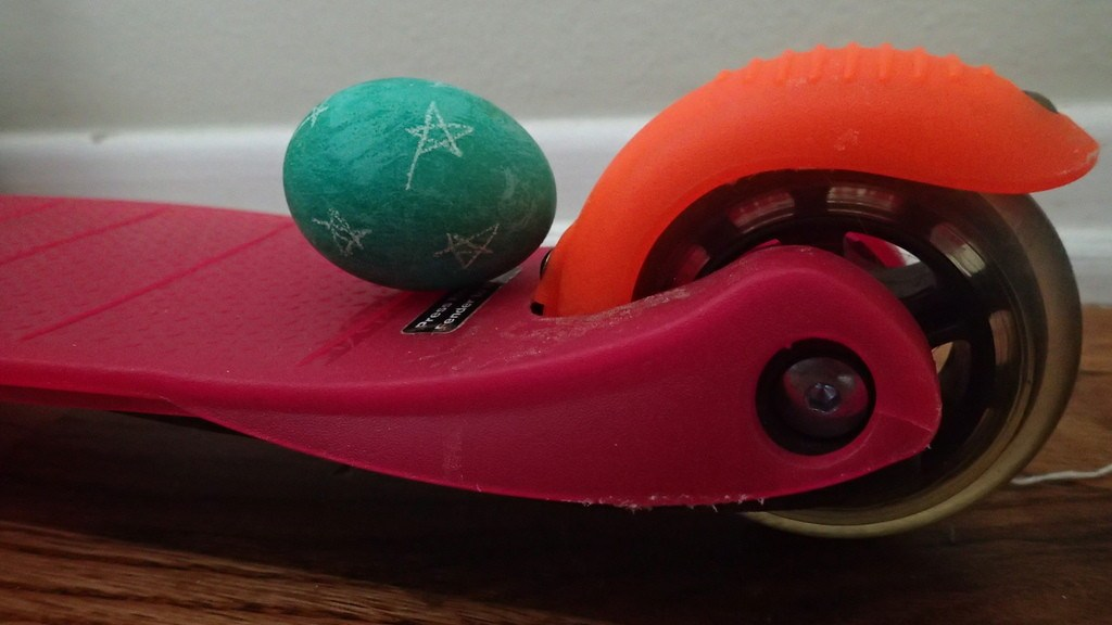 A sweet ride for an egg.