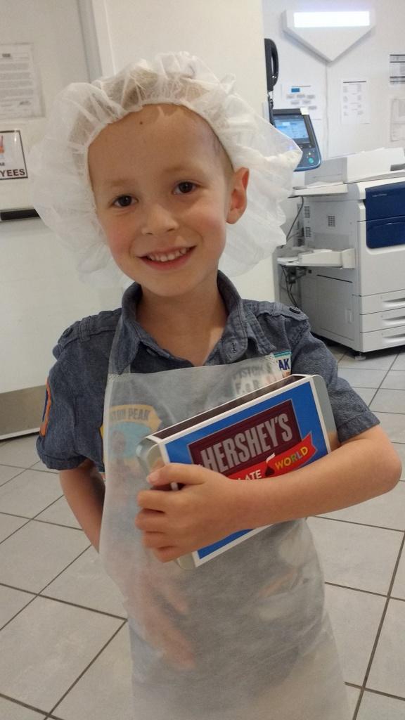 Cooper, the proud inventor.
