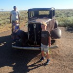 Cooper's favorite part of Petrified Forest was the Route 66 marker.