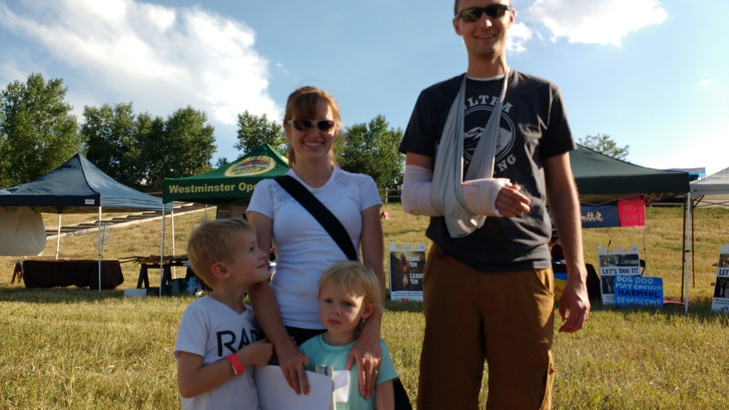The day after Noel broke his arm we went to the county fair.