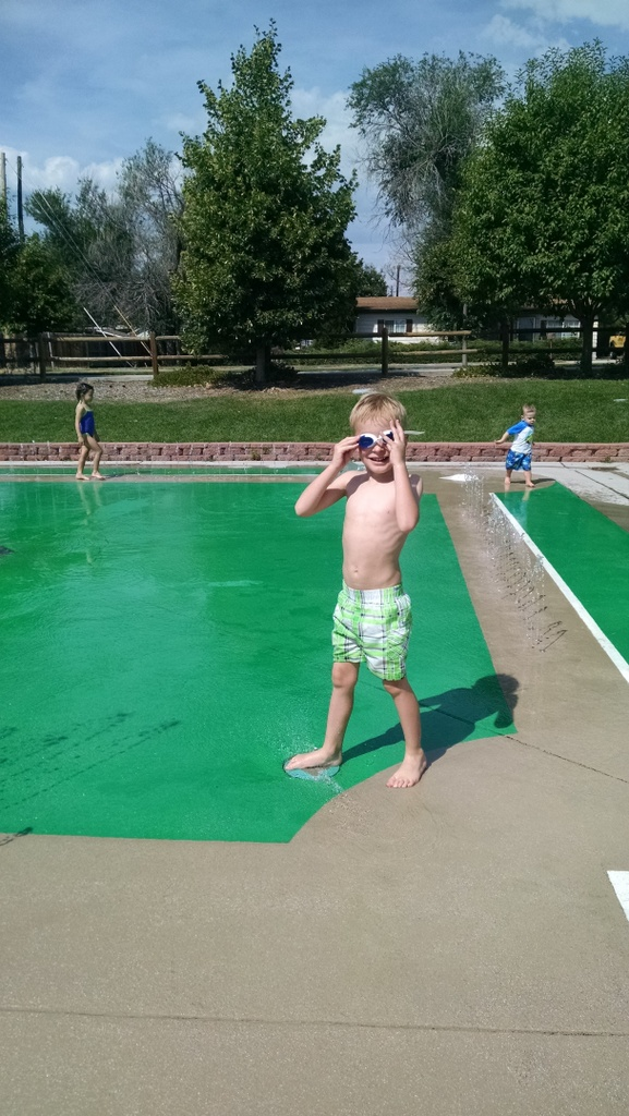 Cooper loved it as long as he had his goggles on.