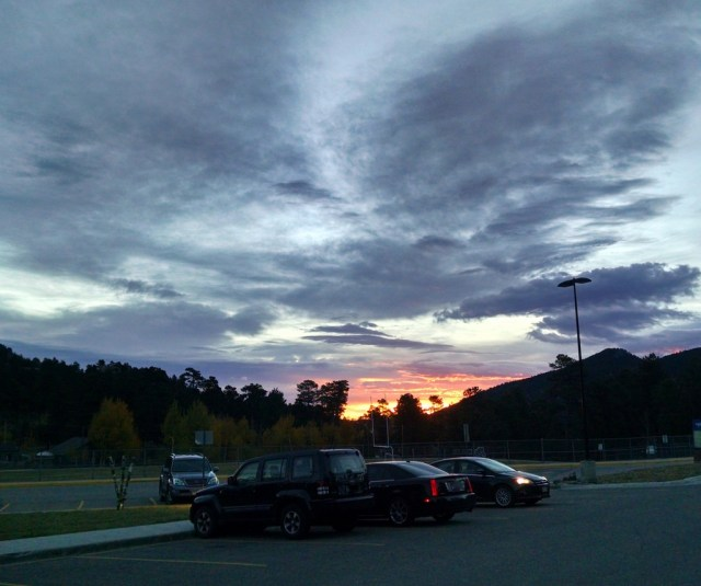 The sunrise from my last day. One of the best things about the job was the beautiful sunrises.