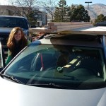 We fit all the lumber needed into or on top of our car.