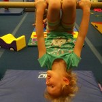 After the Olympics, she kept telling us she was going to be a gymnast when she grew up.
