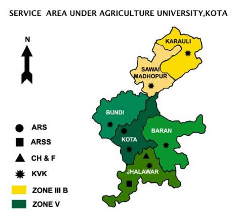 SERVICE area map Agriculture University, Kota