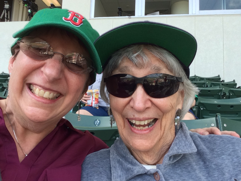me and mom at jetblue park