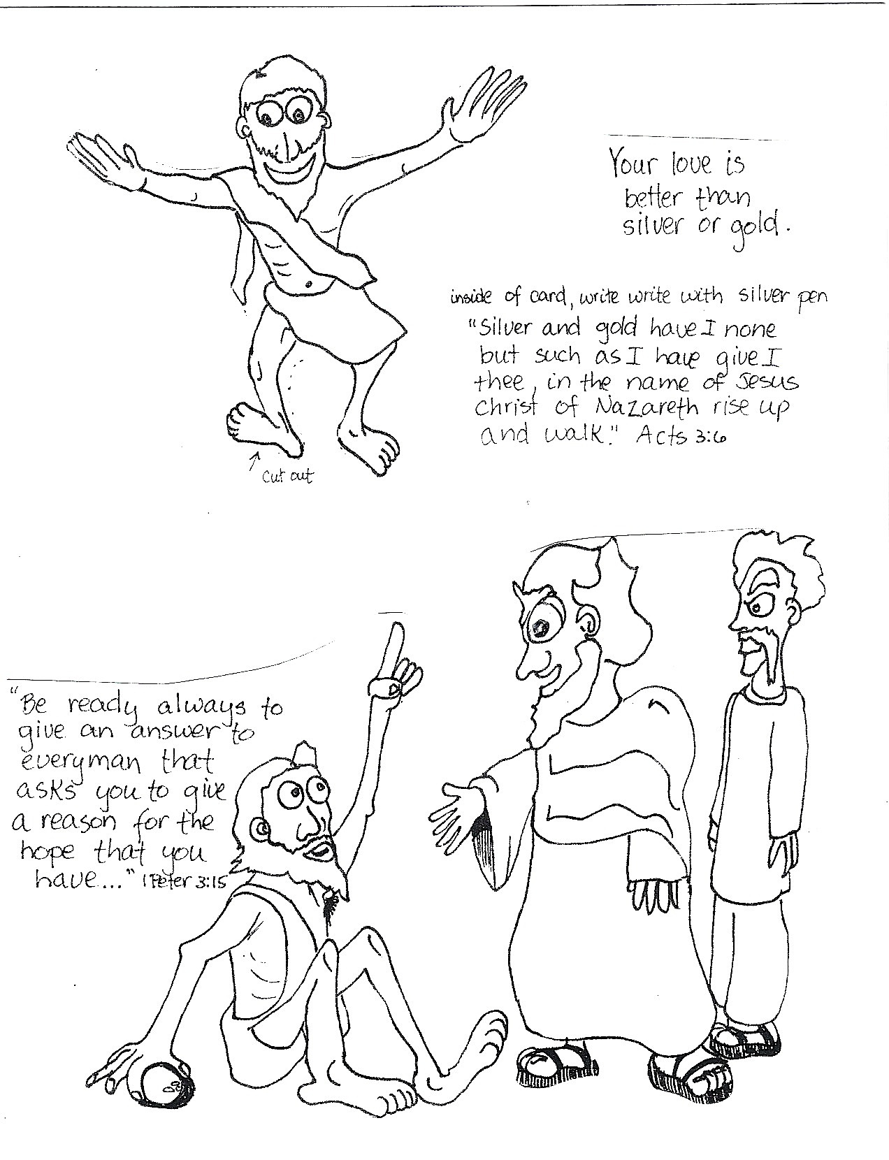 Lame Man Healed Coloring Page Coloring Pages