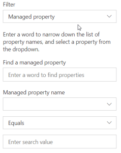 HCWP - Filter by Managed Property