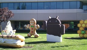 Ice Cream Sandwich Statue at Googleplex
