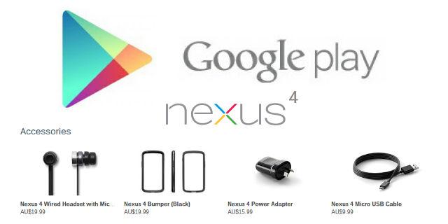 Google Play Nexus 4 Accessories