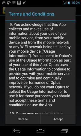 Optus Now - TandCs