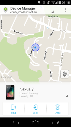 Where's my Nexus 7?