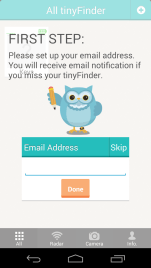 On first run, you'll be asked for a notification email address (I haven't received any notifications yet...)