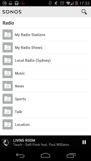 Radio Menu