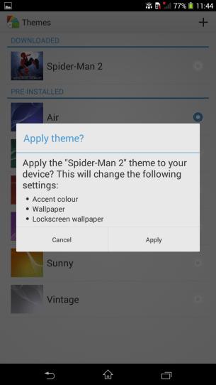 Applying Theme