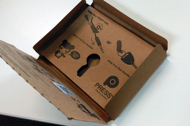Pressy's packaging is impressive in its cleverness.