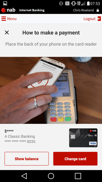how to set up nab pay