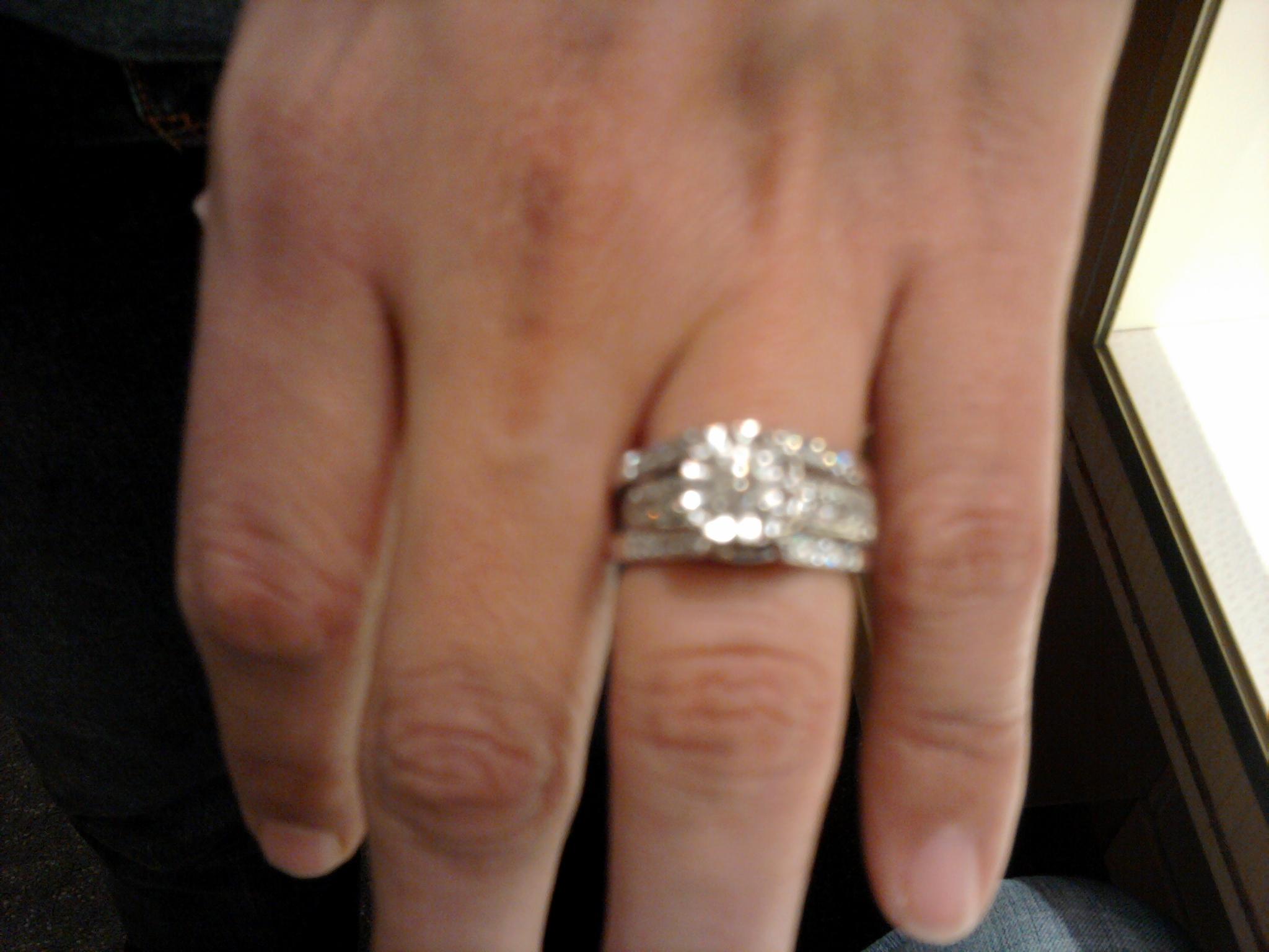 diamond ring enhancers wedding wedding ring guard Diamond ring enhancers wedding