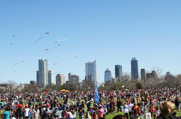 ABC Zilker Kite Festival Austin fun family friendly kite workshop food trailer cart
