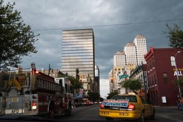austin texas thunderstorm flood rain 6th street downtown