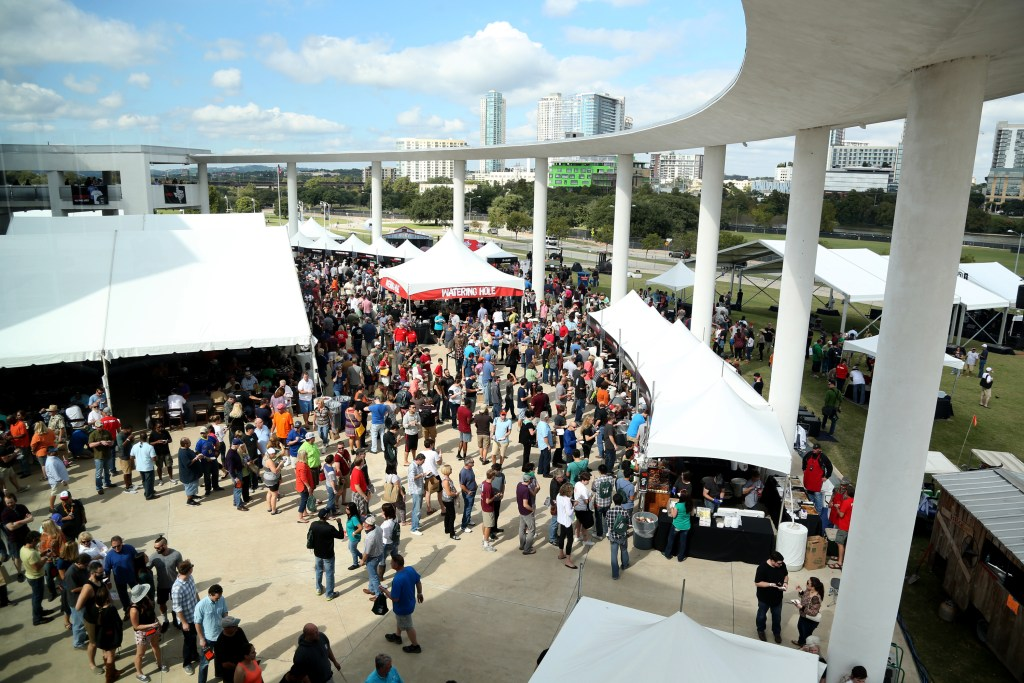 Aerial view of the 2015 Texas Monthly BBQ Fest. Photo by Gary Miller.