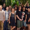 Group of National Seafood Industry Leadership Program graduates under trees