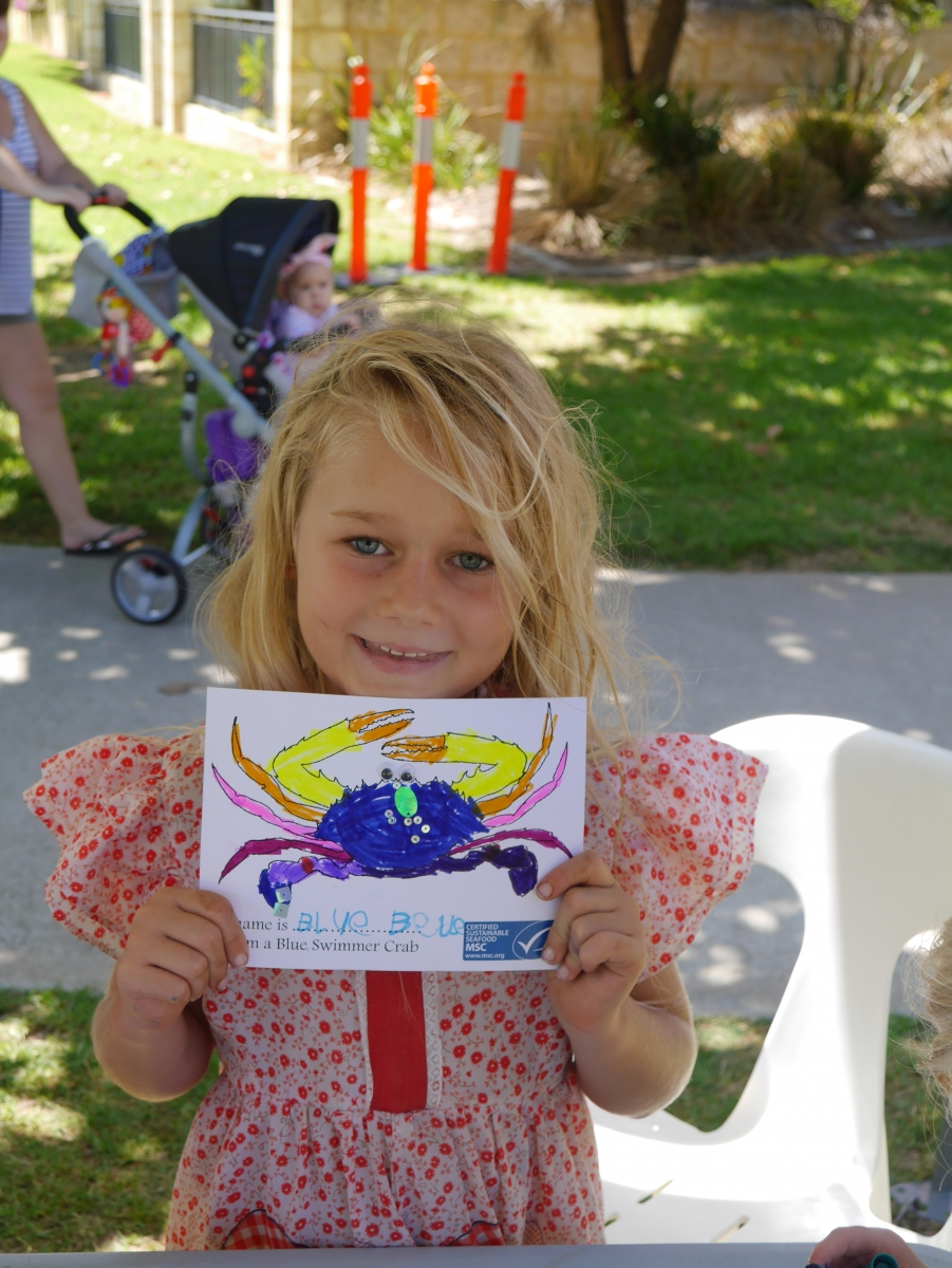 Great arts and craft skills in Mandurah whilst at Crab Fest